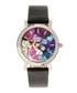 Vanessa steel & black leather watch Sale - bertha Sale