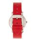 Vanessa silver-tone & red leather watch Sale - bertha Sale