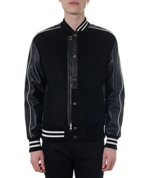 University black cotton blend jacket