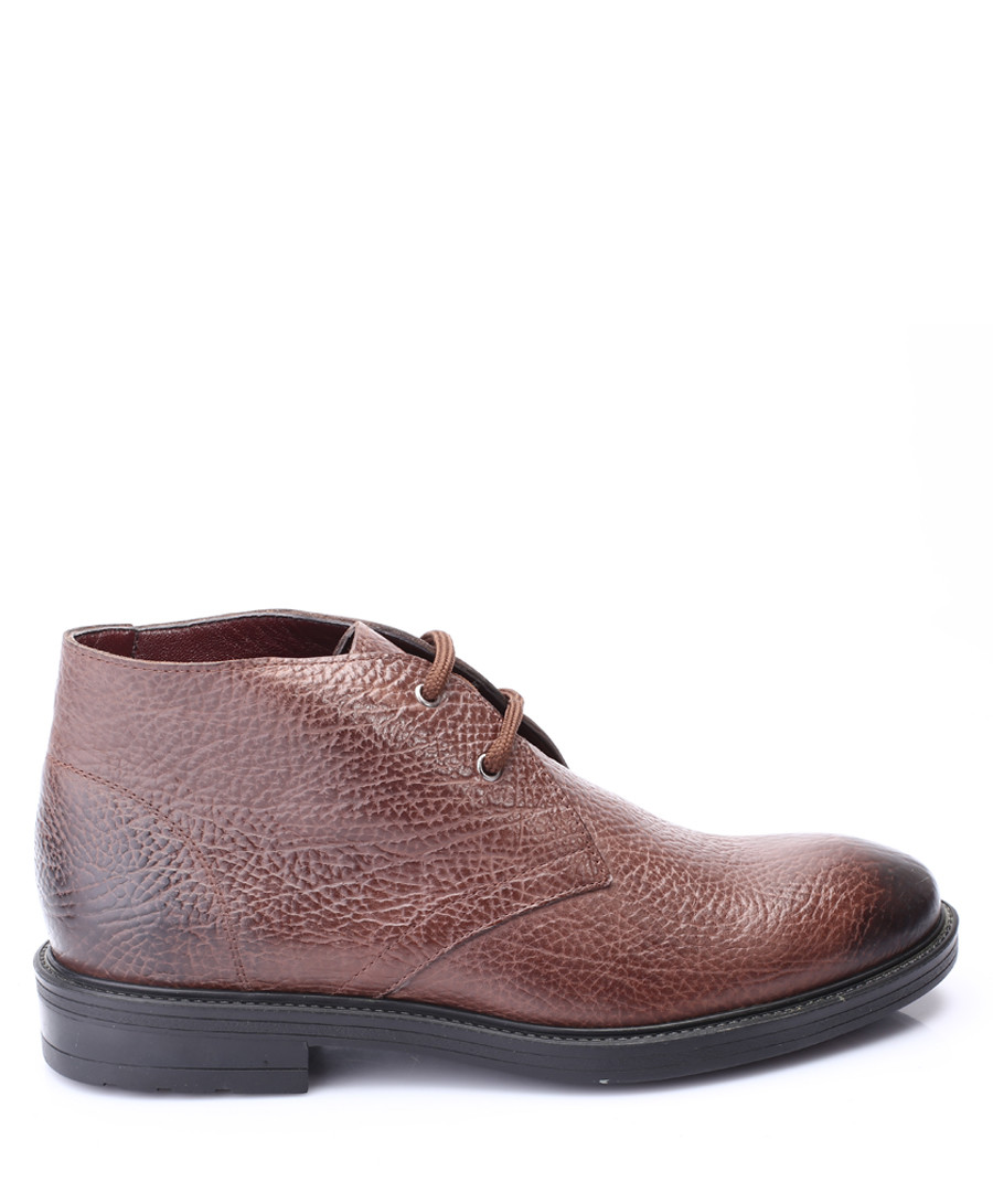 Brown leather lace-up ankle boots Sale - s baker