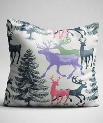 Multi-colour christmas cushion