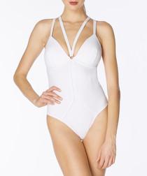 Lara white strappy swimsuit