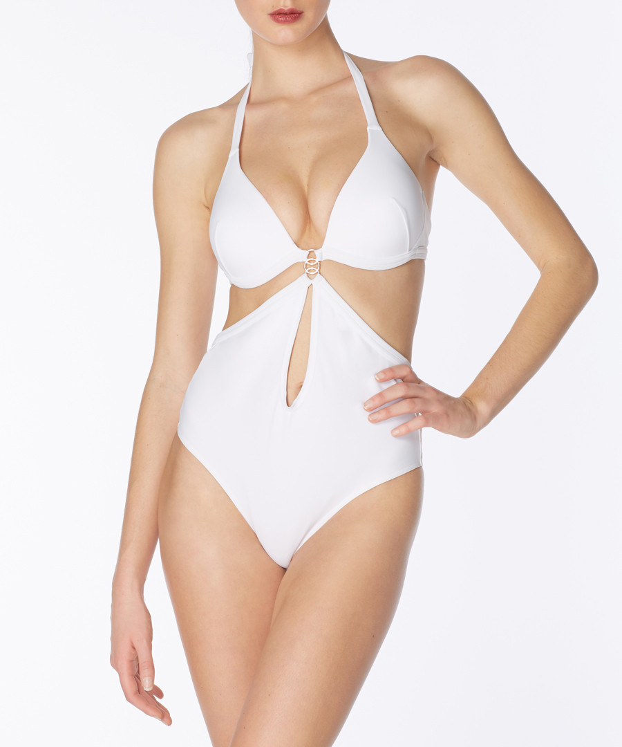 Giselle white cut-out swimsuit Sale - alexandra miro