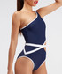 Tatiana navy one shoulder swimsuit Sale - alexandra miro Sale
