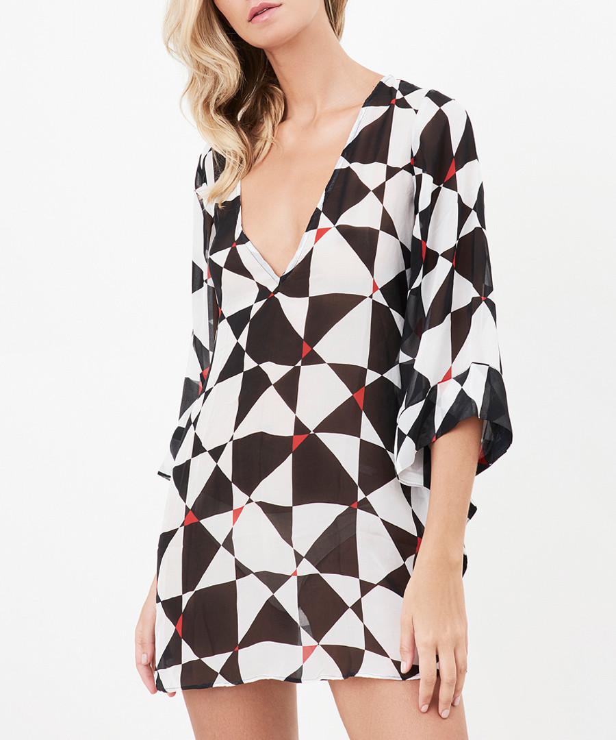 Talia print pure silk mini dress Sale - alexandra miro