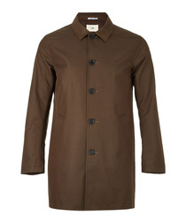 Khaki cotton blend mackintosh