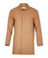 Camel wool blend hidden button coat Sale - FOLK Sale