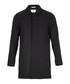 Charcoal wool blend hidden button coat Sale - FOLK Sale