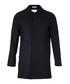 Navy wool blend hidden button coat Sale - FOLK Sale