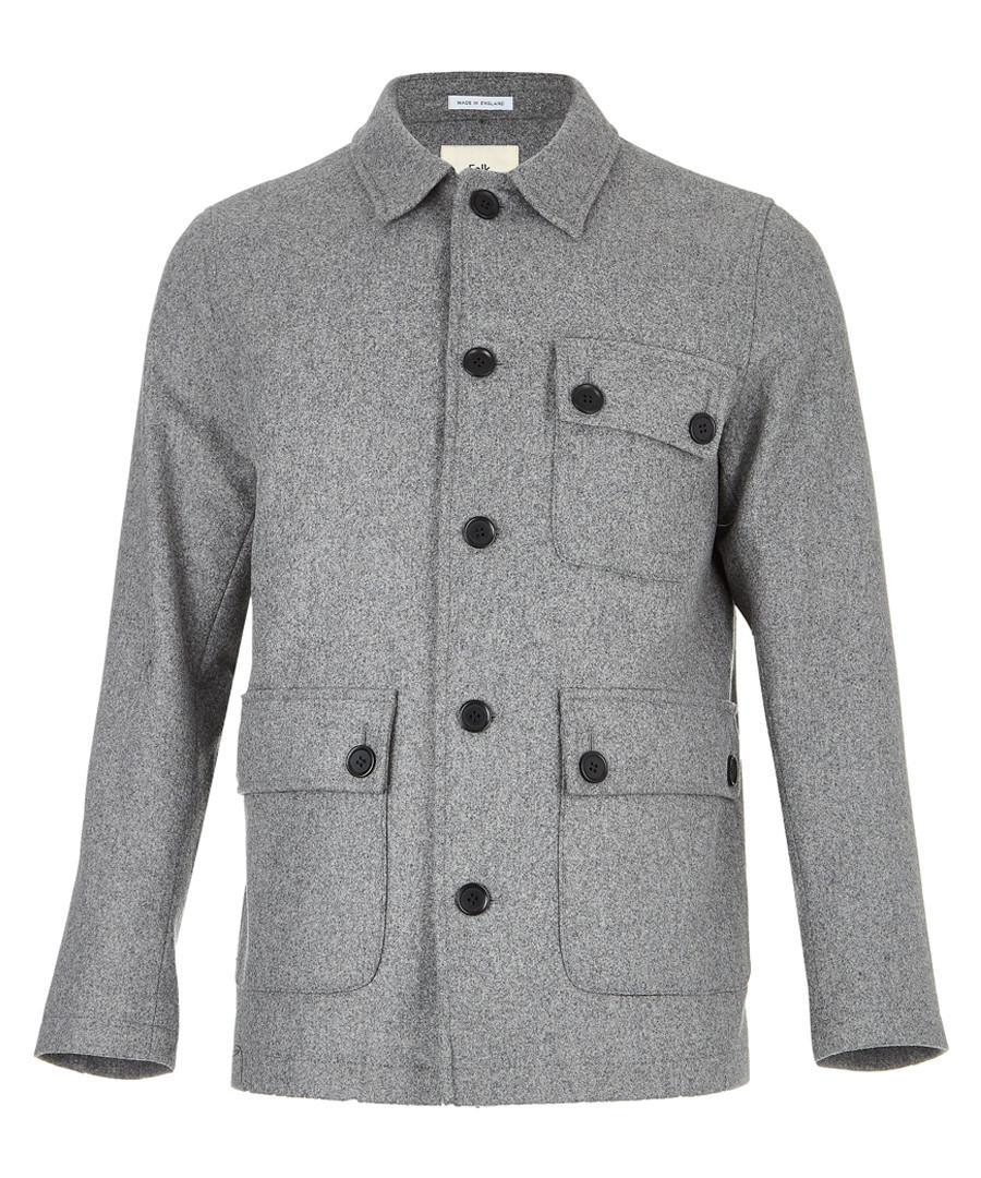 Grey wool blend pocket peacoat Sale - FOLK