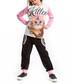 2pc kitten print cotton blend outfit set Sale - Mushi Sale