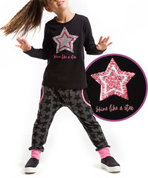 2pc star print cotton blend outfit set
