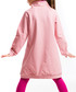 Pink print cotton blend hoodie dress Sale - Mushi Sale