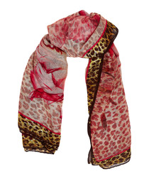 Multi-colour modal & cashmere scarf