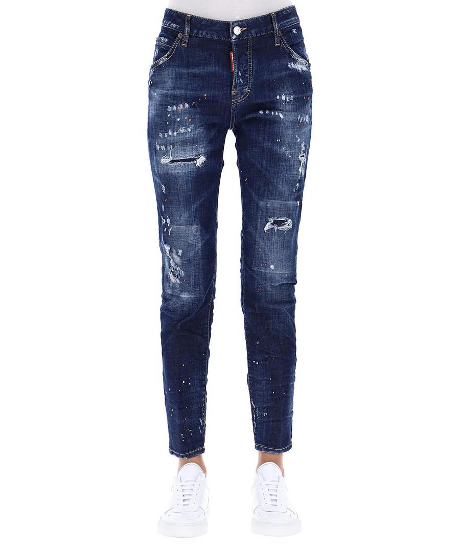 Women's distressed cotton jeans Sale - dsquared