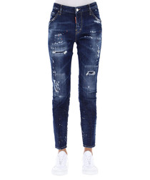 Women's distressed cotton jeans