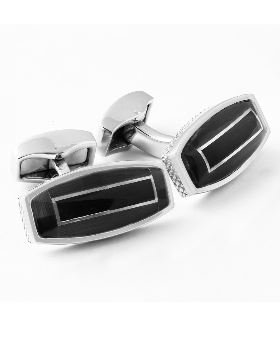 Black rhodium-plated cufflinks Sale - Tateossian London