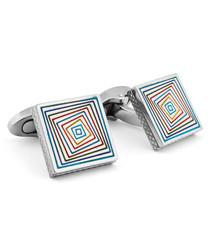 Kaleidoscope titanium cufflinks