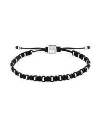 Black & sterling silver bracelet