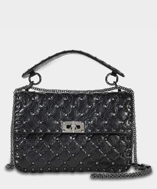 afb753abfd Spike black flap studded shoulder bag Sale - Valentino Garavani Sale