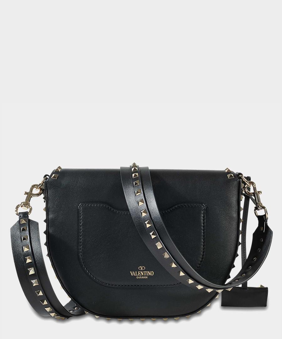 af5f7153b1a Black leather studded saddle bag Sale - Valentino Garavani