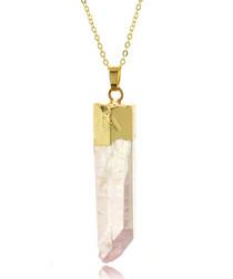14ct gold-plated quartz necklace