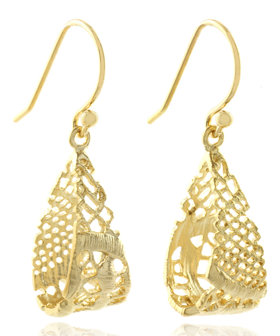 14ct gold-plated drop earrings Sale - fleur envy gaia
