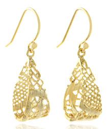 14ct gold-plated drop earrings