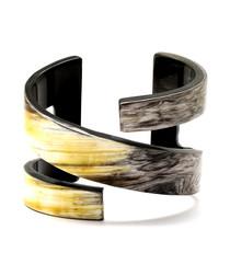 Candor buffalo horn cuff bracelet