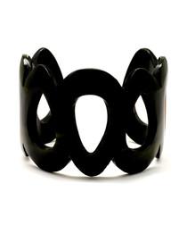 Phantom black buffalo horn cuff bracelet