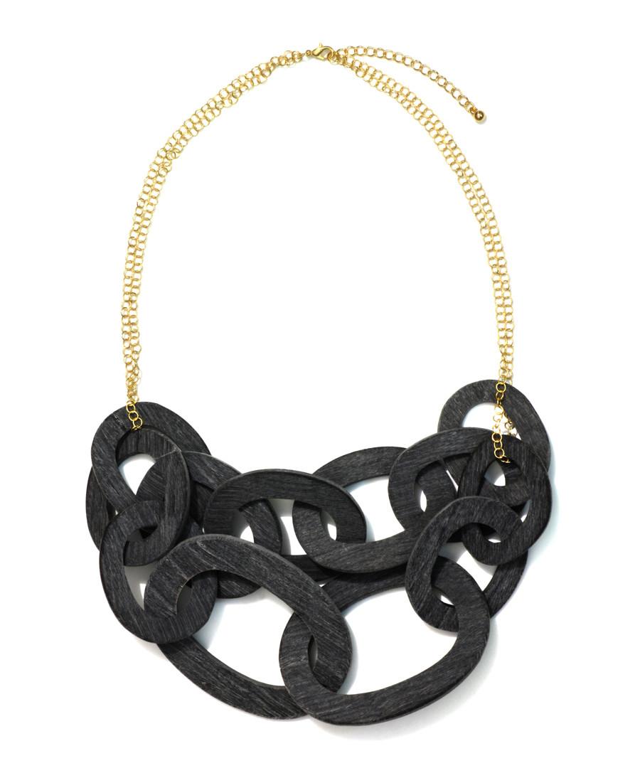 Thrive black & gold-plated horn necklace Sale - fleur envy gaia