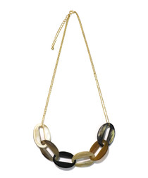 Seduction 14ct gold-plated horn necklace