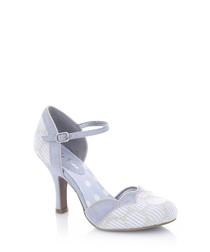 Phoebe sky blue print heels