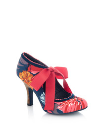 Willow multi-colour tie-up heels