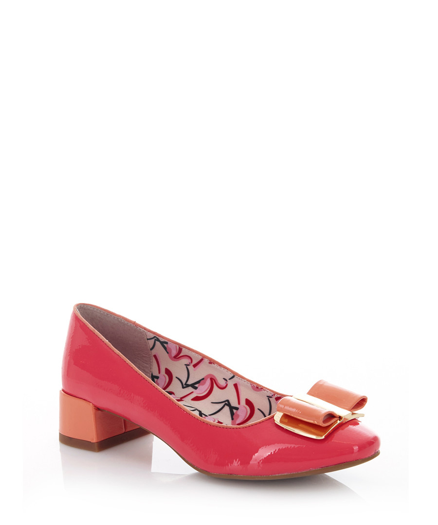 June coral bow ballet flats Sale - ruby shoo