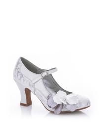 Madelaine white embellished heels