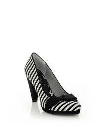 Susanna black stripe heels
