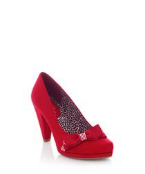 Susanna red bow heels