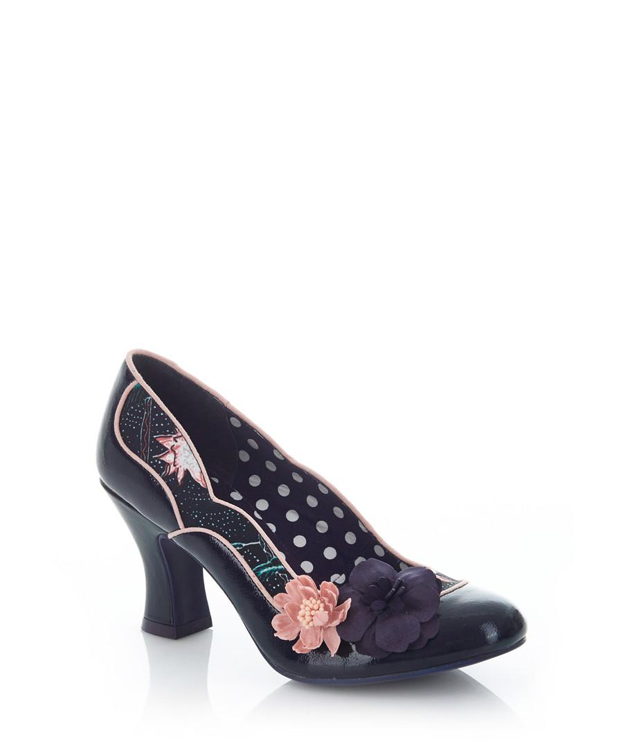 Viola navy print heels Sale - ruby shoo