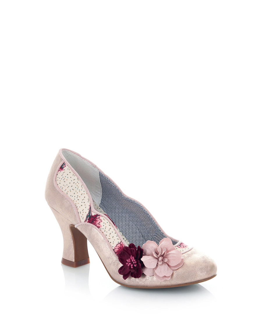 Viola champagne print heels Sale - ruby shoo