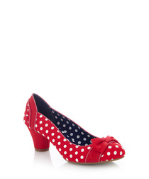 Hayley red spotty heels