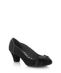 Hayley black bow heels