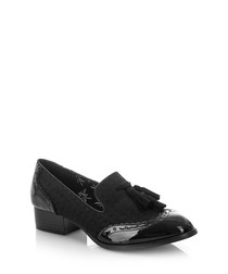 Tara black tassel loafers