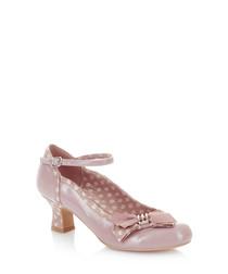 Cordelia mink ankle strap heels