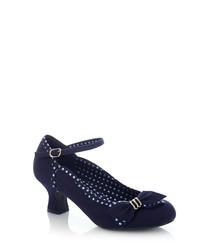 Cordelia navy ankle strap heels