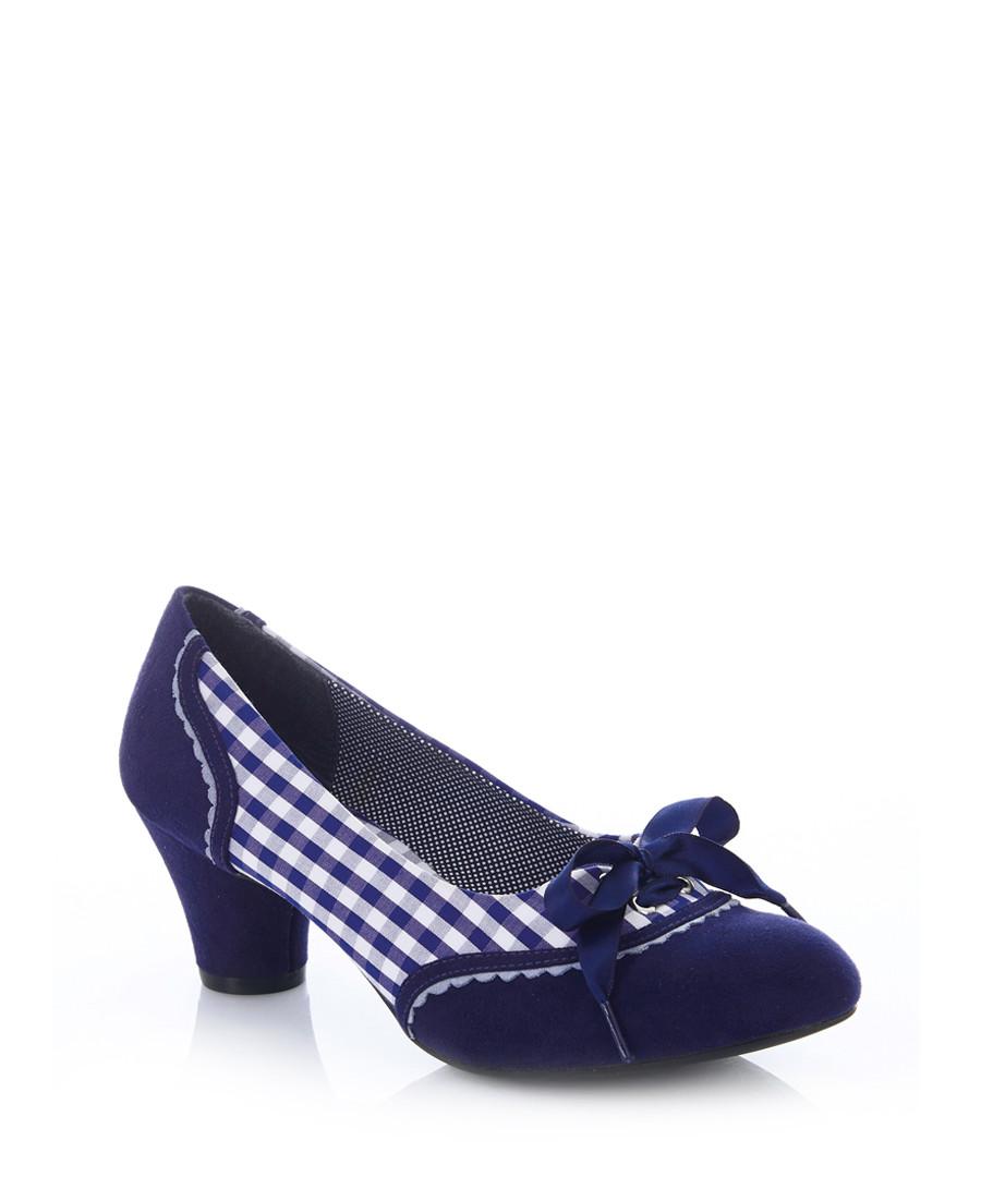 Ophelia blue print bow heels Sale - ruby shoo