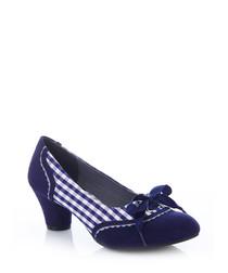 Ophelia blue print bow heels