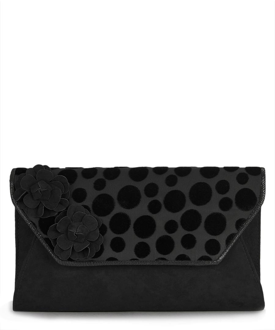 Capri black print flap clutch bag Sale - ruby shoo