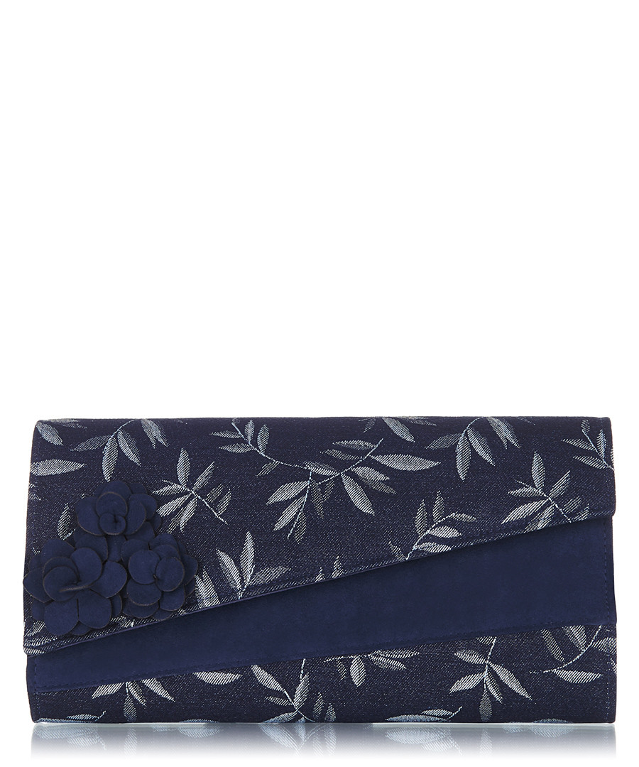 Oxford navy floral flap clutch bag Sale - ruby shoo