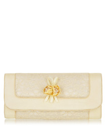 Genova lemon embellished clutch bag